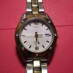 Timex Indiglo WR 30M Ladies' Two-tone Wrist Watch